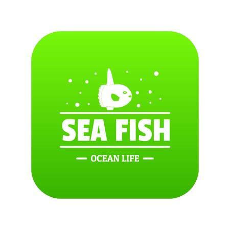 Sea market icon green vector
