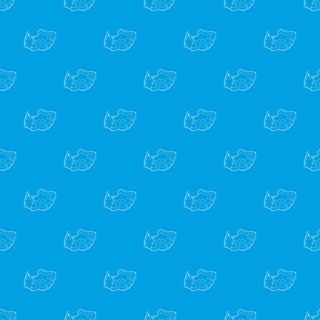 Car accident pattern vector seamless blue repeat for any use