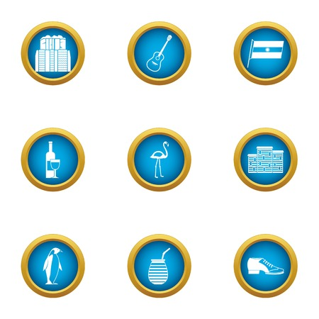 Urban area icons set. Flat set of 9 urban area vector icons for web isolated on white background