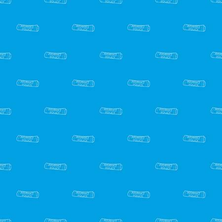 Insurance policy pattern vector seamless blue Ilustrace