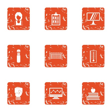 Certification icons set. Grunge set of 9 certification vector icons for web isolated on white background
