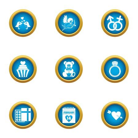 Wedding formality icons set. Flat set of 9 wedding formality vector icons for web isolated on white background