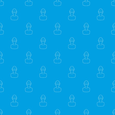Theft pattern vector seamless blue repeat for any use