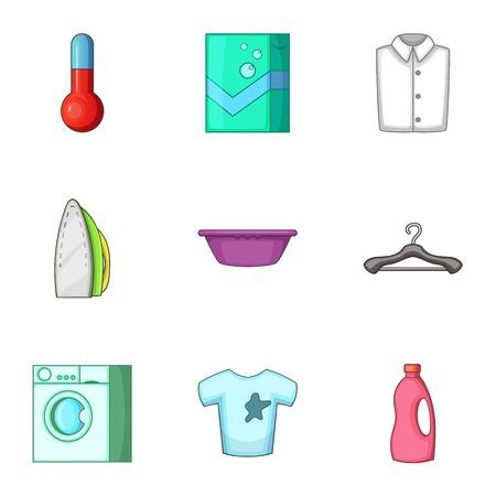 Purge icons set. Cartoon set of 9 purge vector icons for web isolated on white background