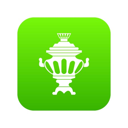 Russian tea samovar icon digital green for any design isolated on white vector illustration  イラスト・ベクター素材