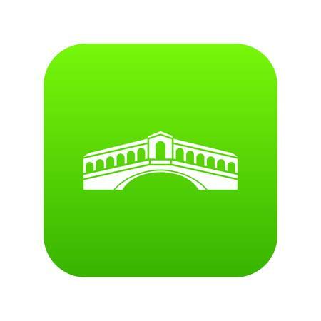 Venice bridge icon digital green for any design isolated on white vector illustration  イラスト・ベクター素材