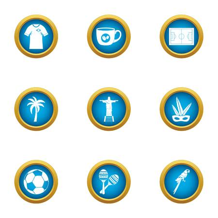 Heavenly place icons set. Flat set of 9 heavenly place vector icons for web isolated on white background