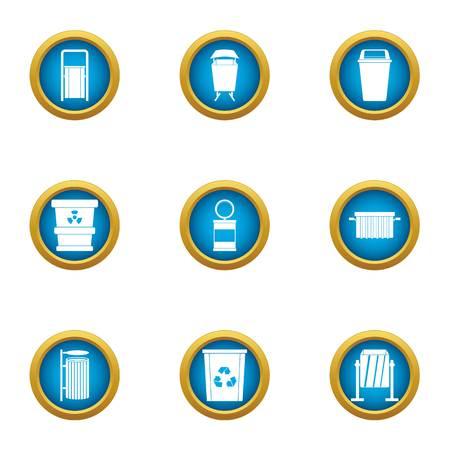 Elemental composition icons set. Flat set of 9 elemental composition vector icons for web isolated on white background
