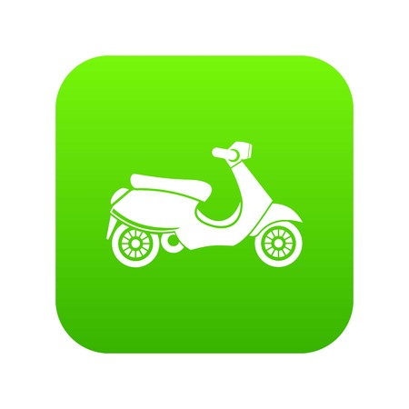 scooter icon digital green