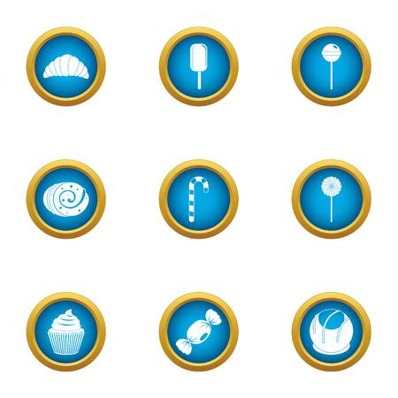Luscious icons set, flat style Illustration