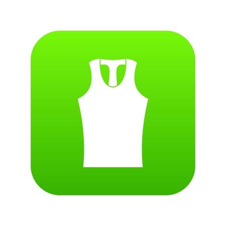 Sleeveless shirt icon digital green for any design isolated on white vector illustration