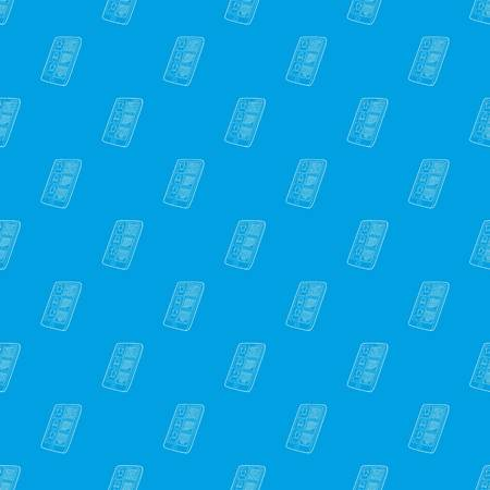Resumes on the tablet screen pattern vector seamless blue repeat for any use
