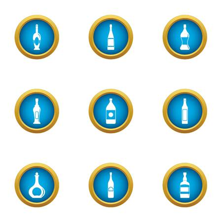 Carboy icons set. Flat set of 9 carboy vector icons for web isolated on white background