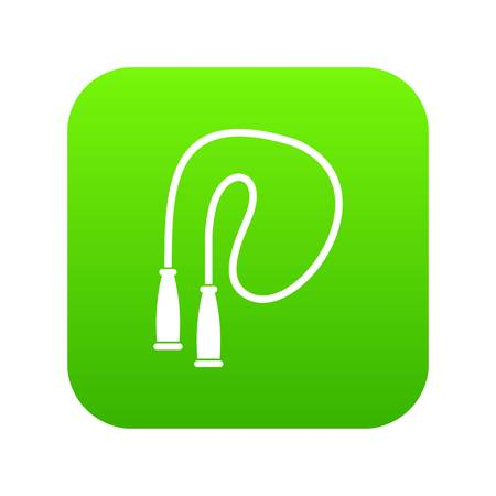 Skipping rope icon digital green for any design isolated on white vector illustration