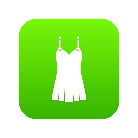 Nightdress icon digital green
