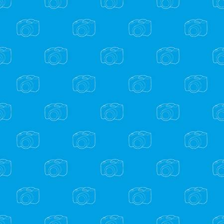SLR camera pattern vector seamless blue repeat for any use