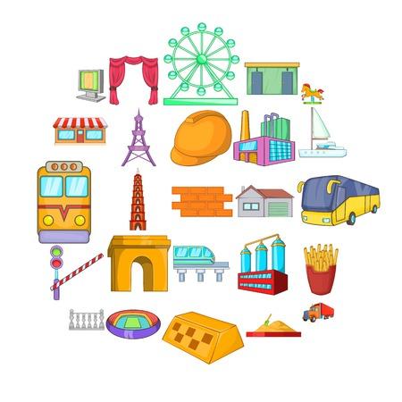 Conjunto de iconos de estado padre. Conjunto de dibujos animados de 25 iconos de vector de estado padre para web aislado sobre fondo blanco