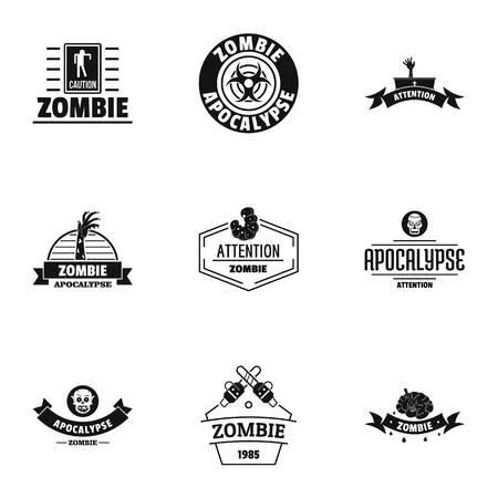 Indulge logo set, simple style Фото со стока - 105735375