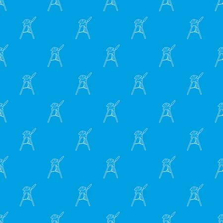 Tripod for camera pattern vector seamless blue repeat for any use Illustration