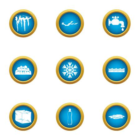 Revive icons set. Flat set of 9 revive vector icons for web isolated on white background Stock Illustratie