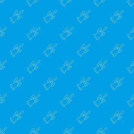 Bell pattern vector seamless blue repeat for any use
