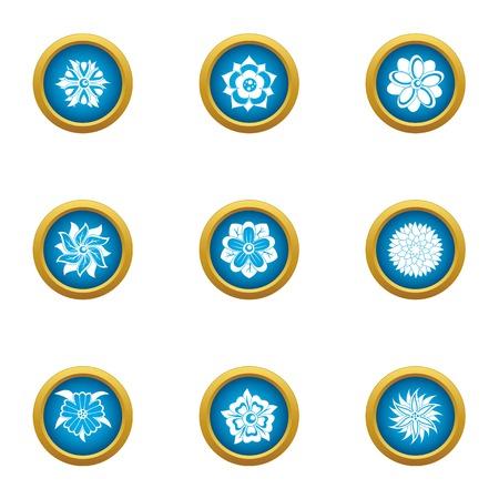 Ensemble d'icônes de bouquet de fleurs. Ensemble plat de 9 icônes vectorielles de bouquet de fleurs pour le web isolé sur fond blanc Vecteurs