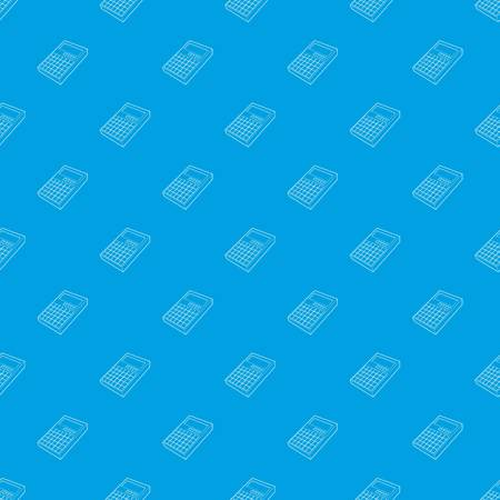 Calculator pattern vector seamless blue repeat for any use