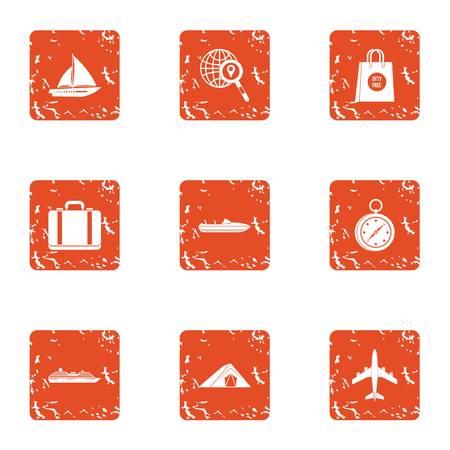 Conjunto de iconos acaloradamente. Conjunto de grunge de 9 iconos de vector caliente para web aislado sobre fondo blanco