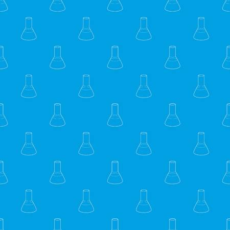 Laboratory flask pattern vector seamless blue repeat for any use