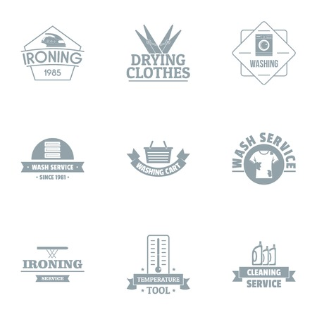 Eisen-Logo-Set, einfacher Stil