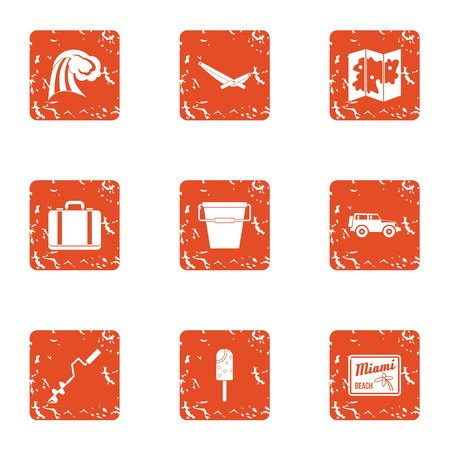 Ardent icons set. Grunge set of 9 ardent vector icons for web isolated on white background