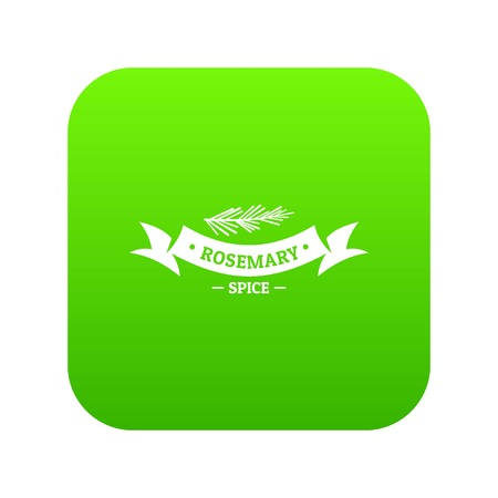 Rosemary spice icon green vector Illustration
