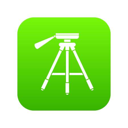 Tripod icon digital green for any design isolated on white vector illustration