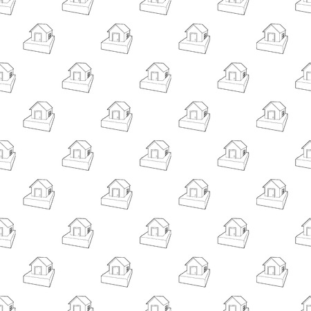Flooded house icon in outline style on a white background