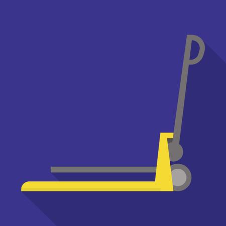 Lift cart icon. Flat illustration of lift cart vector icon for web design Foto de archivo - 112301501