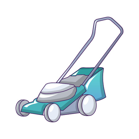 Lawnmower icon. Cartoon of lawnmower vector icon for web design isolated on white background