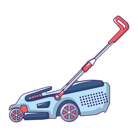 Hand grass cutter icon. Cartoon of hand grass cutter vector icon for web design isolated on white background Illustration
