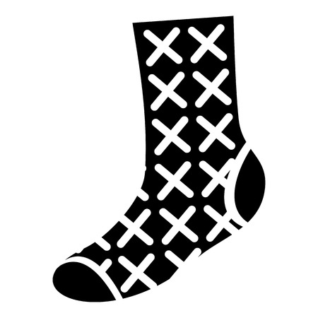 Hipster sock icon. Simple illustration of hipster sock vector icon for web design isolated on white background