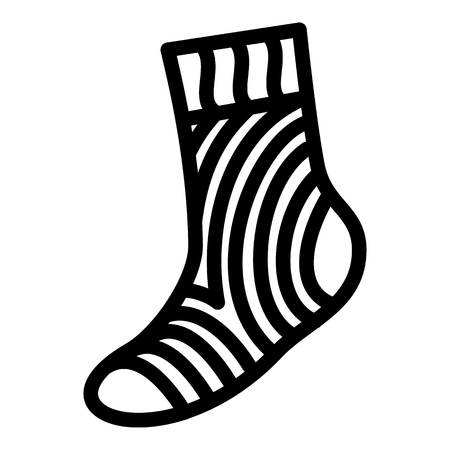 Travel sock icon. Simple illustration of travel sock vector icon for web design isolated on white background