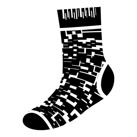 Camo sock icon. Simple illustration of camo sock vector icon for web design isolated on white background