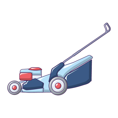 Farm grass cut machine icon. Cartoon of farm grass cut machine vector icon for web design isolated on white background