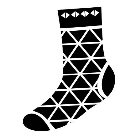 Triangular sock icon, simple style