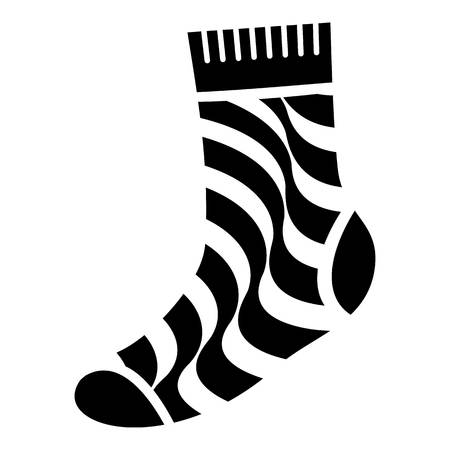 Dirty sock icon. Simple illustration of dirty sock vector icon for web design isolated on white background
