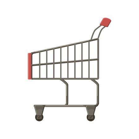 Shopping cart icon, cartoon style