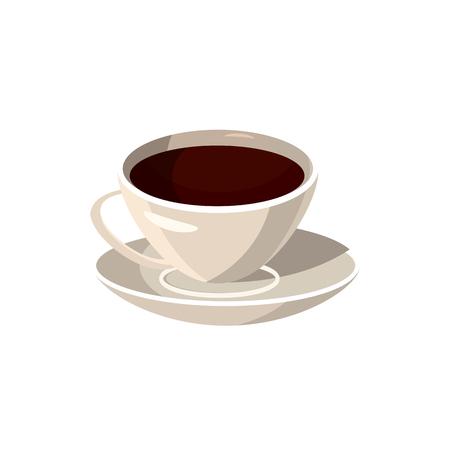 Cup of coffee icon, cartoon style Фото со стока