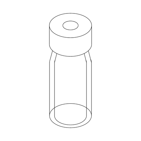 Medical glass bottle icon, isometric 3d style