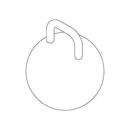 Kettlebell icon, isometric 3d style Stock Photo