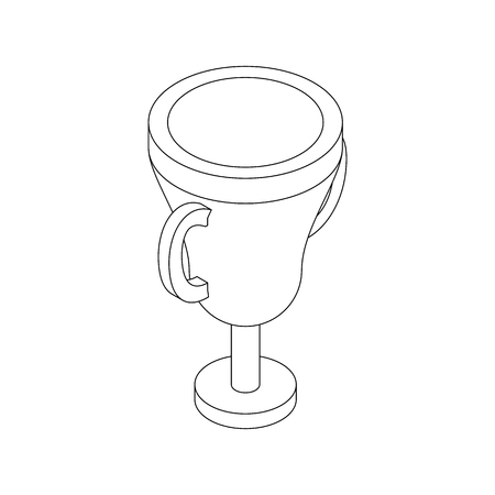 Trophy cup icon, isometric 3d style Stock Photo