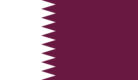 Qatar flag image for any design in simple style Stock Photo