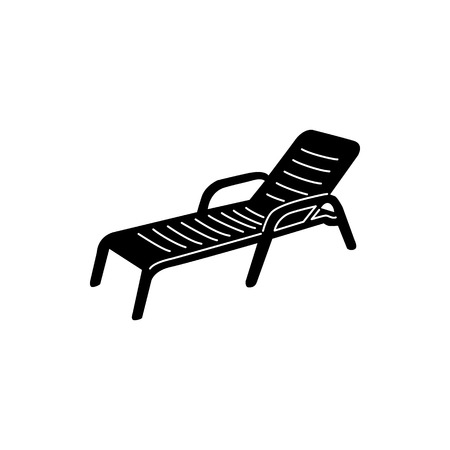 Chaise icon in simple style isolated on white background. Summer and vacation symbol 写真素材